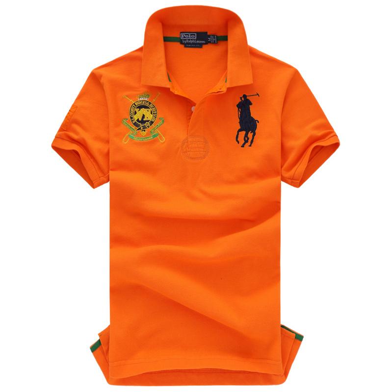 polo ralph lauren orange shirt ralph lauren t shirt polo ville logo homme populaire 311 orange. Black Bedroom Furniture Sets. Home Design Ideas