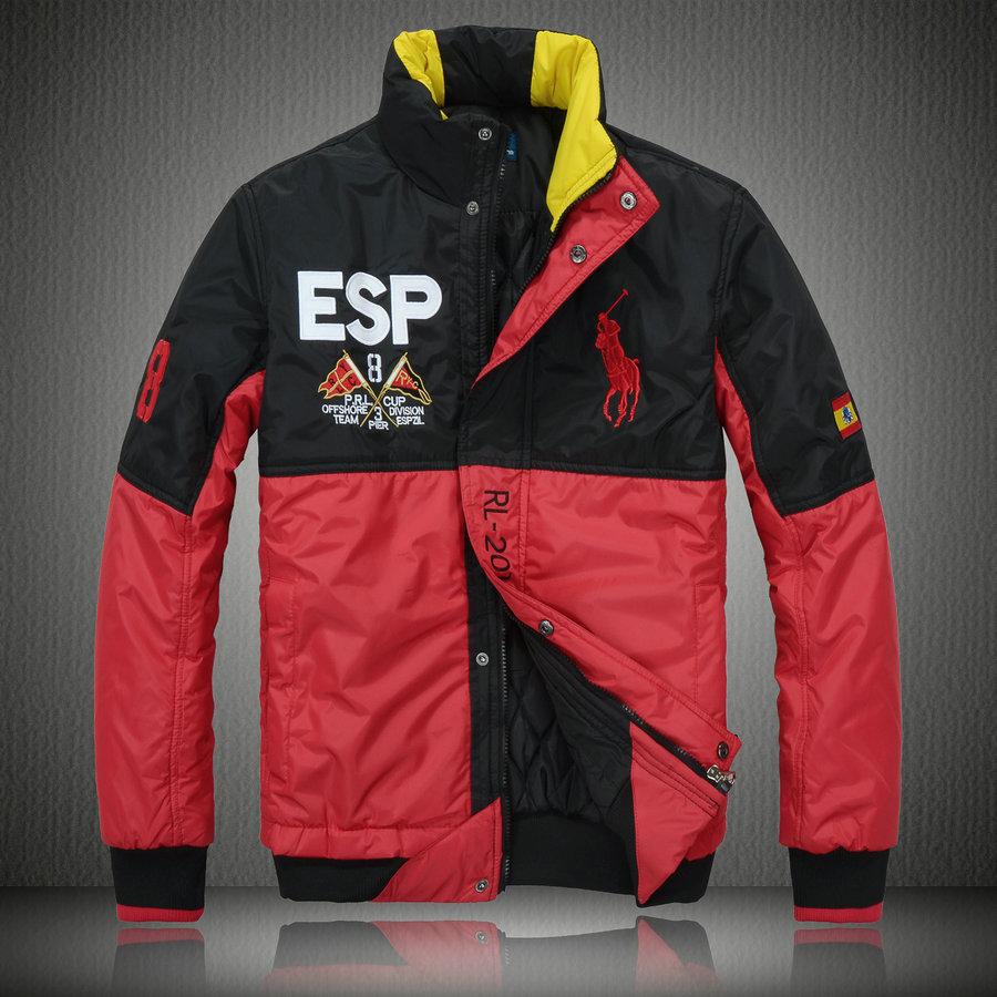 701b04b5b153 manteau hommes polo ralph lauren doudoune 2013 chaud big pony racing esp  rouge noir