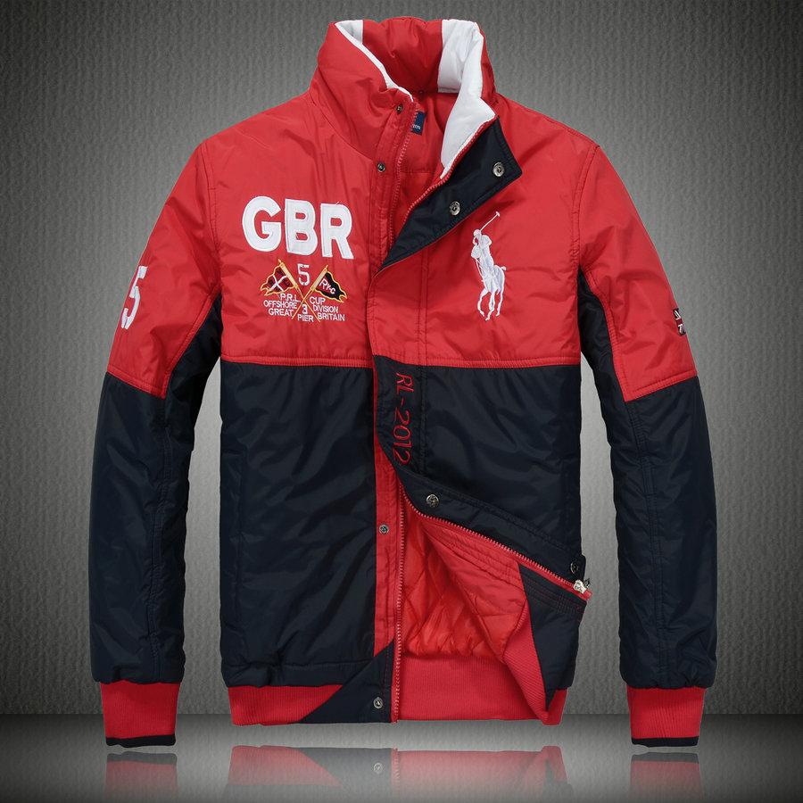 e0e9b1647352 manteau hommes polo ralph lauren doudoune 2013 chaud big pony racing gbr  noir rouge