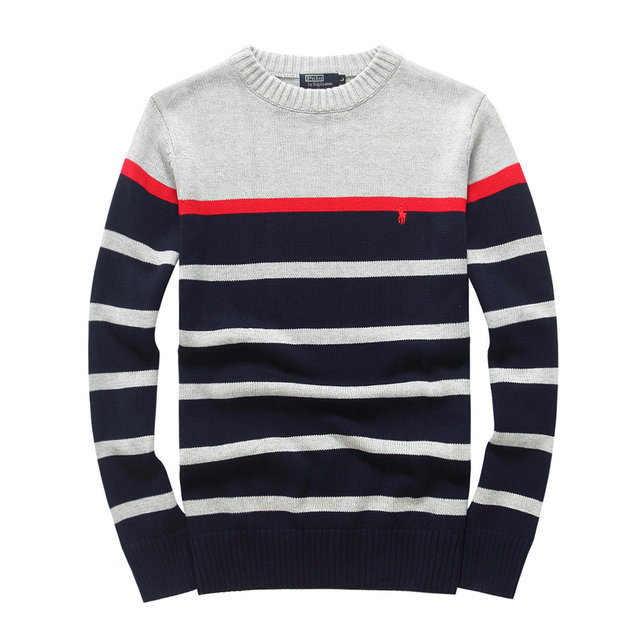 eb7a20cc4 polo ralph lauren pull laine merinos col rond rayure [PLPO 8460]