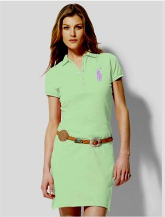robes polo ralph lauren femmes coton deep green,polo ralph lauren robe sport 676da2723550