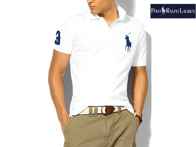 polo ralph lauren hommes pas cher tee shirt mode blanc bleu plpo 5404. Black Bedroom Furniture Sets. Home Design Ideas