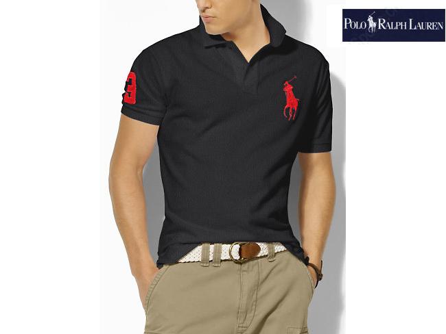 polo ralph lauren hommes pas cher tee shirt mode noir rouge plpo 5401. Black Bedroom Furniture Sets. Home Design Ideas