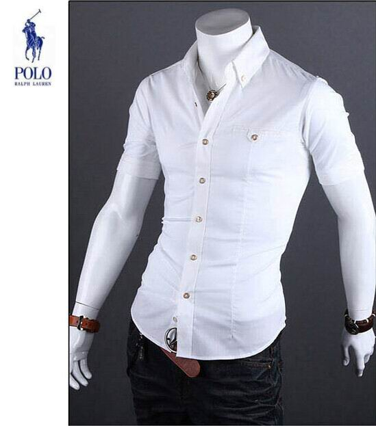 ... Ralph Lauren nouveau Chemises Business casual homme coton discount Blanc d8949f34ed5