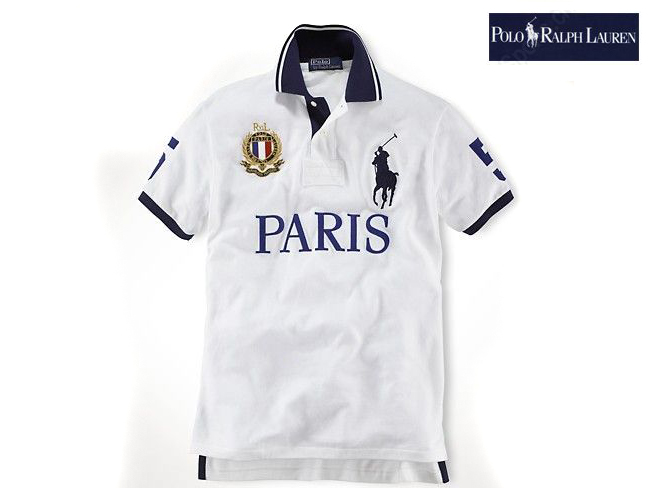 Polo ralph lauren bleu et blanc for T shirts with city names