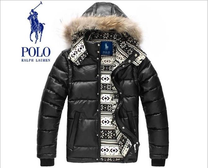 4efc98ebbf983 doudoune polo ralph lauren hoodie en cuir à capuche  PLPO 6805
