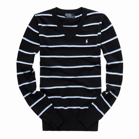 polo pulls homme pour raye demi zip manches longues pas cher noir blanc plpo 7512. Black Bedroom Furniture Sets. Home Design Ideas