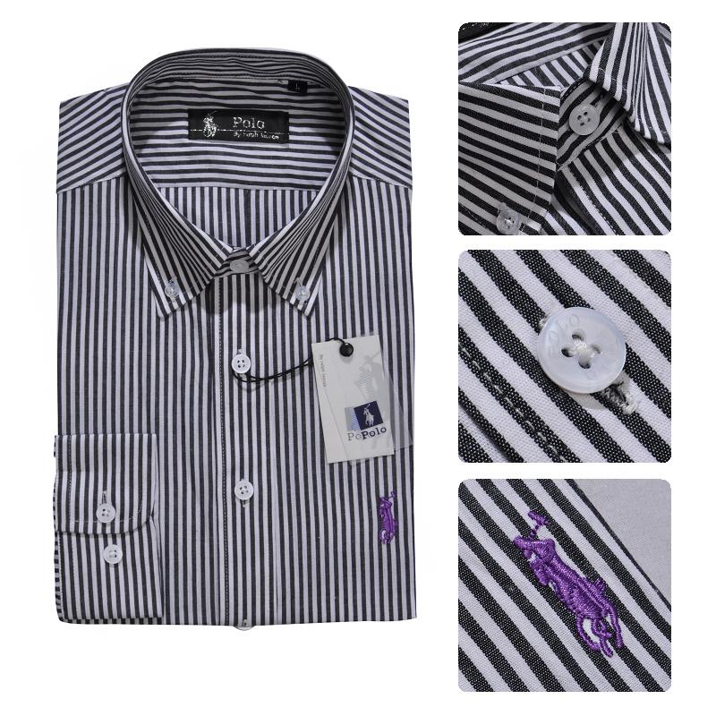 37.00EUR, ralph laure hommes mode chemises manches longues 2013 polo france  coton rayures caine noir e1884fa9e895