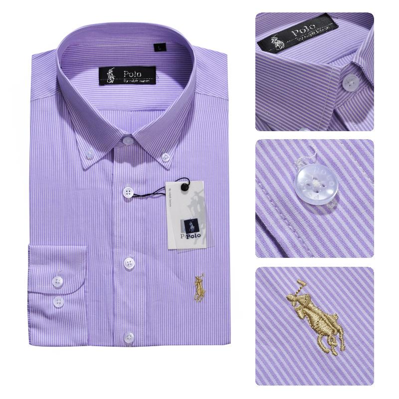 37.00EUR, ralph laure hommes mode chemises manches longues 2013 polo italie  coton rayures caine violet bc9e4e172650