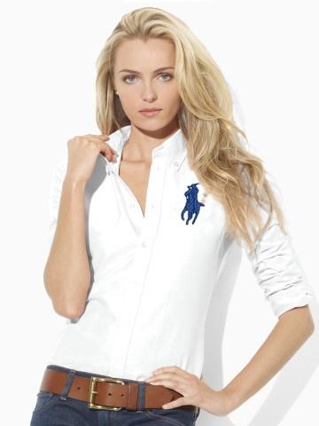 93279e76295 chemises polo ralph lauren pour femmes big pony mode blance  PLPO 6662
