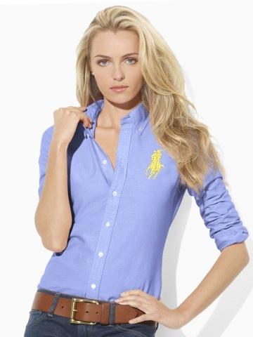 d3c1f3faee3 chemises polo ralph lauren pour femmes big pony mode blue