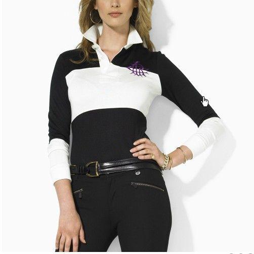 0e08864244969 tee shirt polo ralph lauren manche longue femmes couronne noir blance